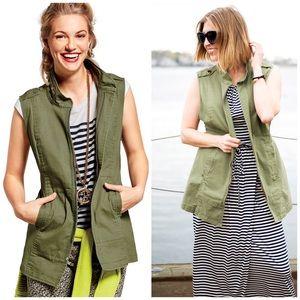 Cabi l Explorer Army Green Vest